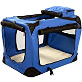 Extra-Large Pet Carrier Crate with Reversible Fleece Mat